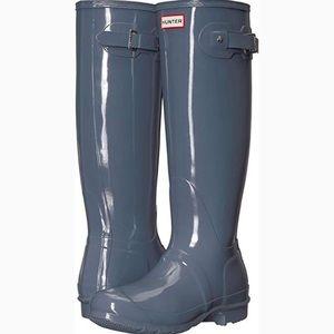 HUNTER Rain Boots Graphite Grey 7